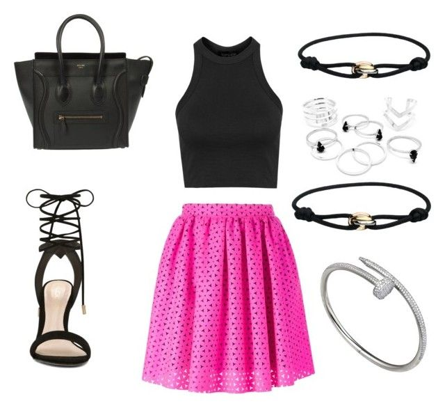 """""""Untitled #89"""" by noahbarker ❤ liked on Polyvore featuring MSGM, ALDO, Topshop, CÉLINE, Cartier, women's clothing, women, female, woman and misses"""