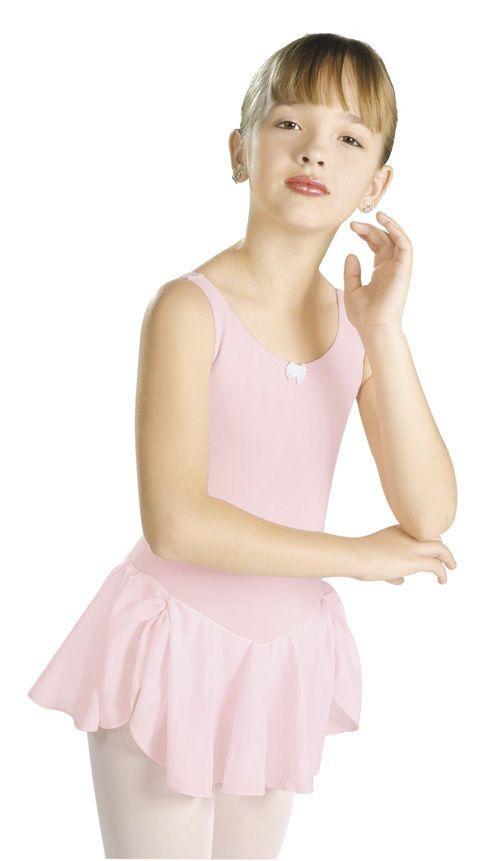 69315d85d New Girls Kids Dance Ballet Pink Leotard with Attached Skirt Size ...