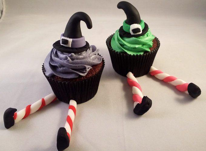 Wicked Witch Purple Velvet Halloween Cupcakes