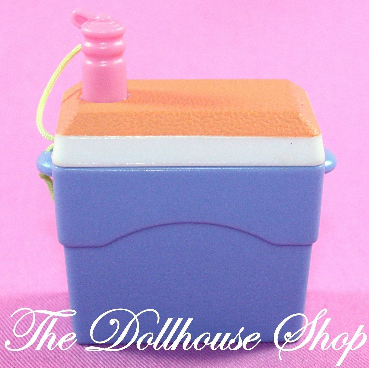 Fisher Price Loving Family Dollhouse Camping Drinks Cooler Ice Chest Picnic Food #familypicnicfoods