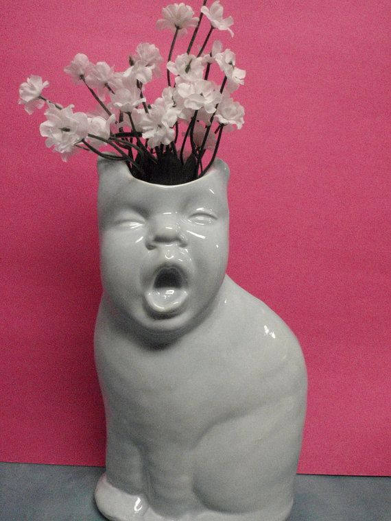 Drowsy Kat Baby Vase Reserved For Emilie Pinterest Babies