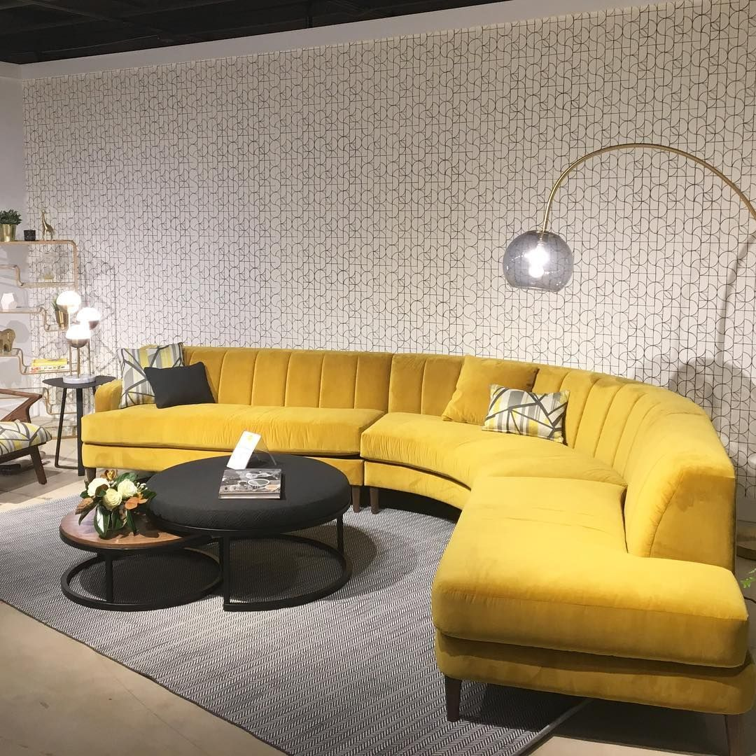 A Bold Citrine Sectional With Serious Quot Curve Quot Appeal