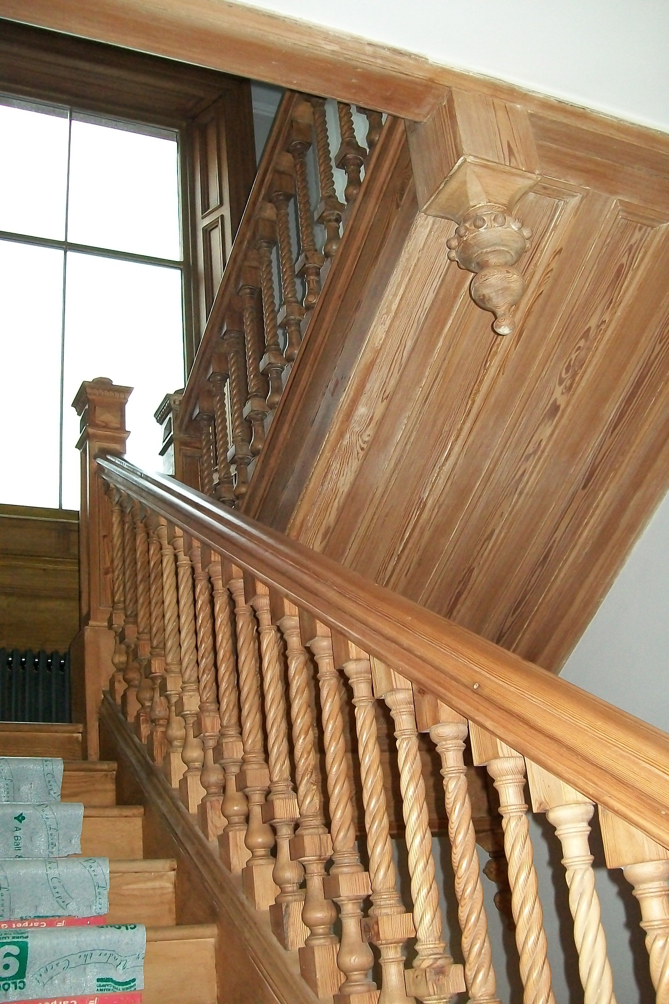Reclaimed, Pitch Pine, Stair Spindles, Rope Twist,specialist Joinery, Newel  Posts