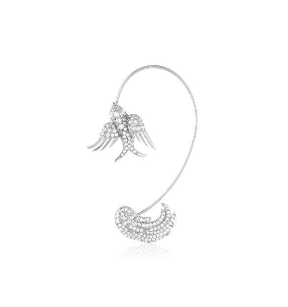 Colette 18K White Gold Diamond Wing Ear Cuff