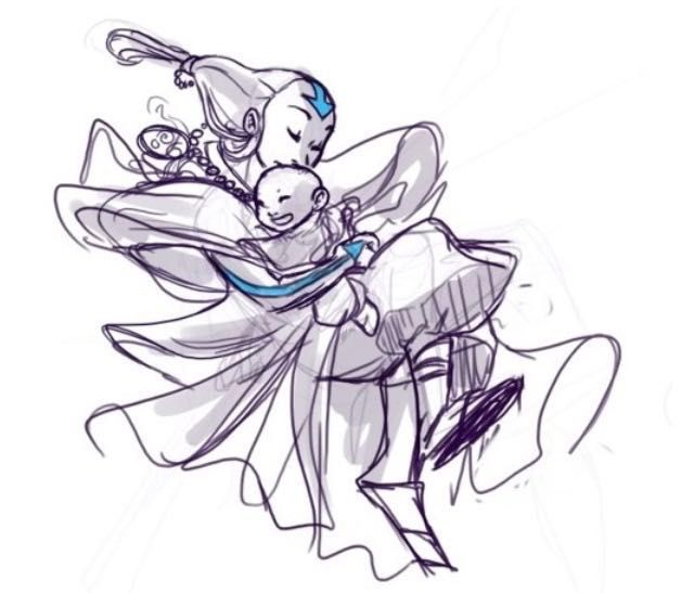 Aang and his mother