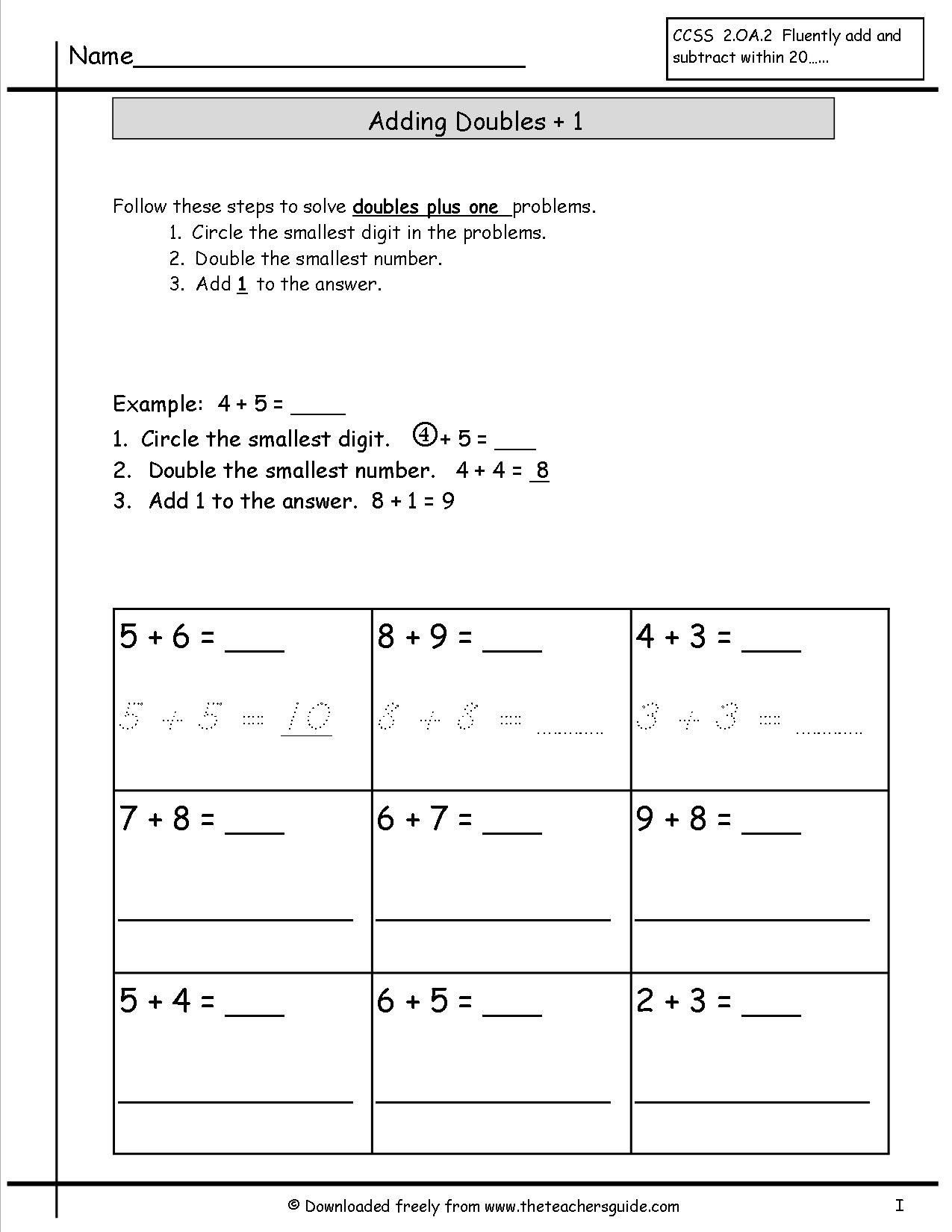 Doubles Worksheets First Grade Fun Doubles Worksheet In 2020 Math Fact Worksheets 2nd Grade Math Worksheets Printable Math Worksheets
