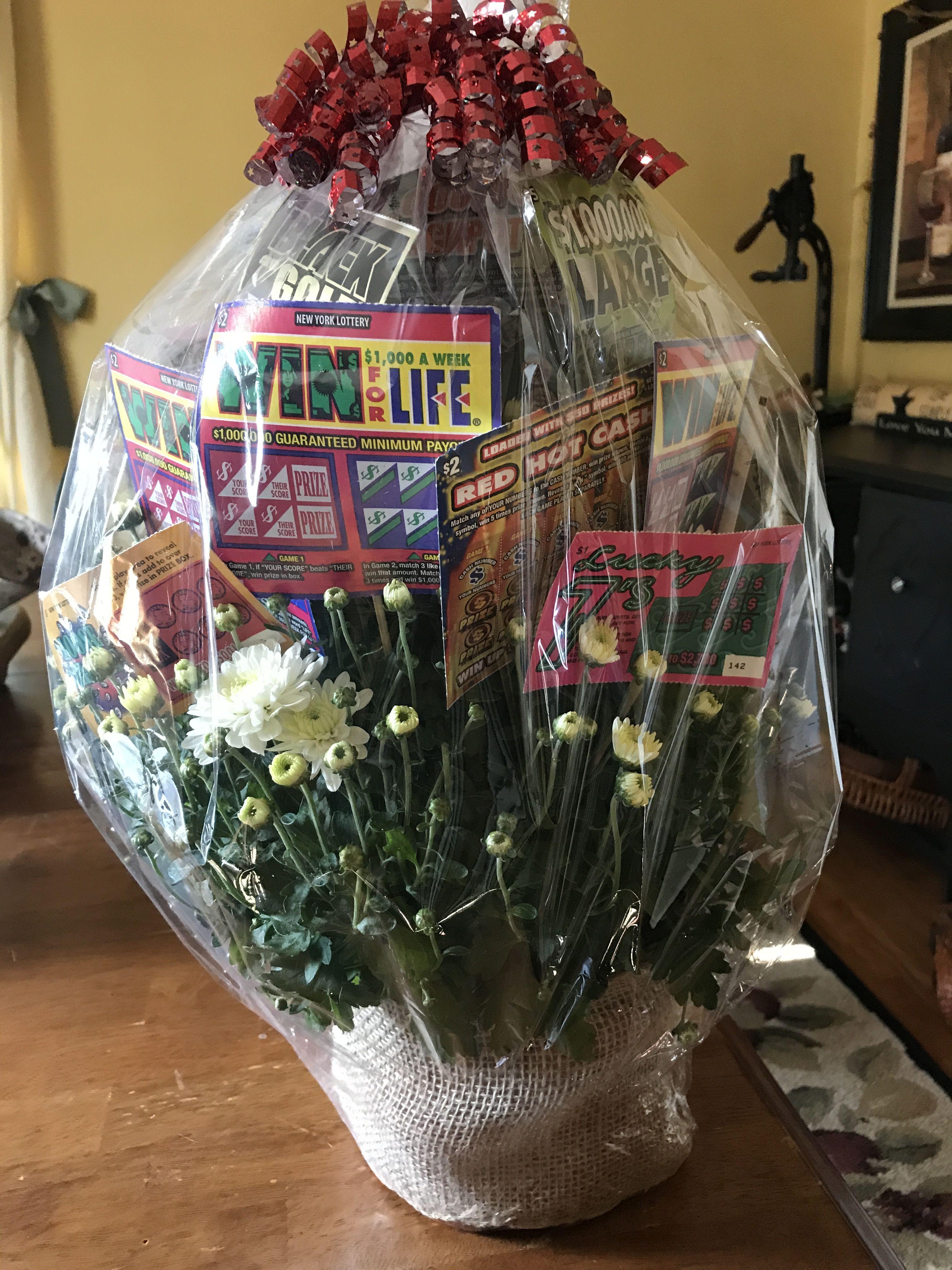Lottery Ticket Raffle Basket Mum