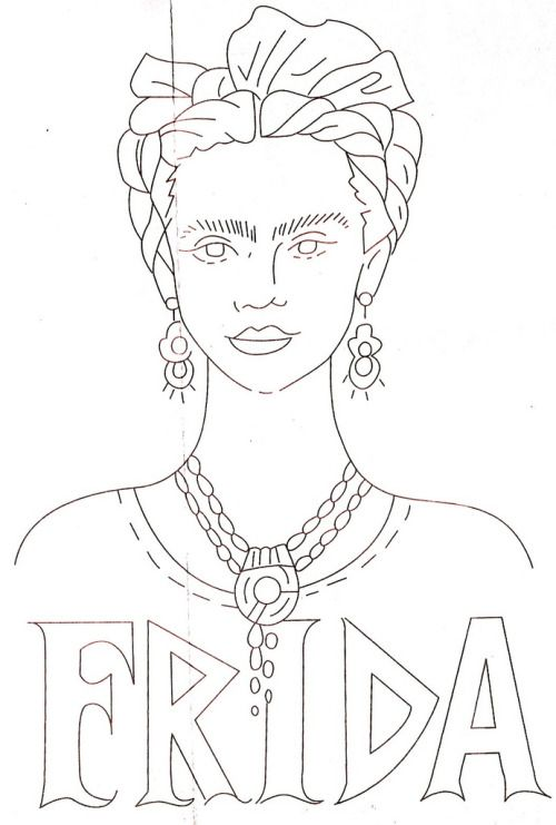Homemade Hippie (Free Frida Kahlo Embroidery Patterns