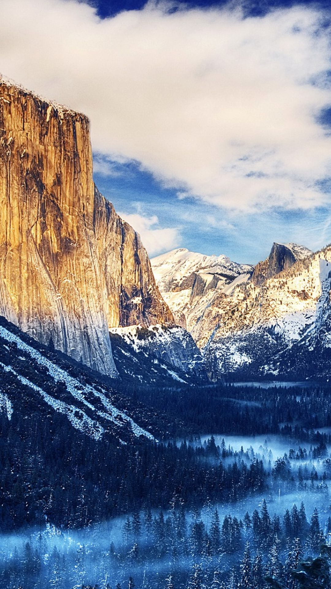 Yosemite National Park Winter Landscape iPhone 6 Plus HD