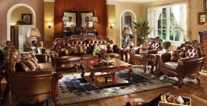 Vendome Formal Living Room Set Includes Sofa Loveseat Formal Living Room Sets Living Room Sets Sofa And Loveseat Set