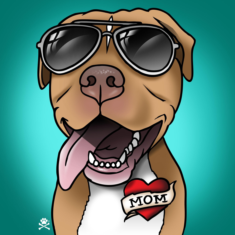 Momma S Boy Cartoon Cartoondog Dogcartoon Dogart Dogportrait