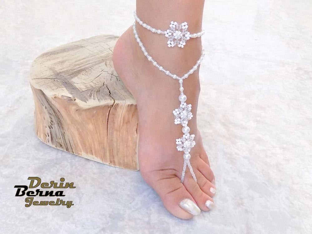 White pearl bow anklet braceletPearl wedding bow ankletBridal