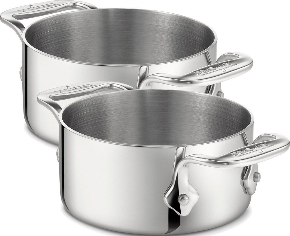 All Clad 59914 Stainless Steel Dishwasher Safe 0 5 Quart Soup Souffle Ramekins Cookware Set 2 Piece Silver Stainless Steel Dishwasher Cookware Set Ramekins