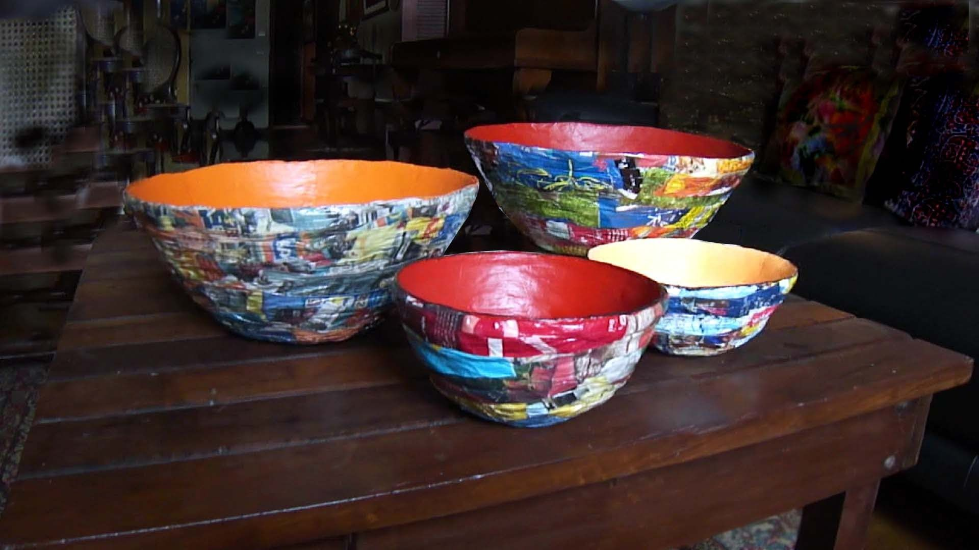 Bowls Of Newspaper And Magazines You Can Click Below The Tutorial