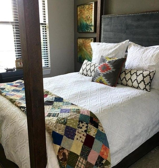 High Quality West Elm Duvet And Vintage Quilt