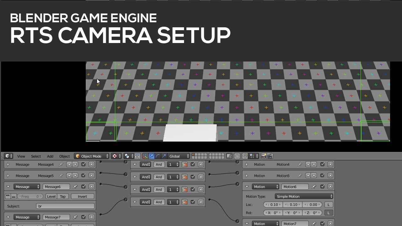 RTS Camera setup in Blender's Game Engine Game engine