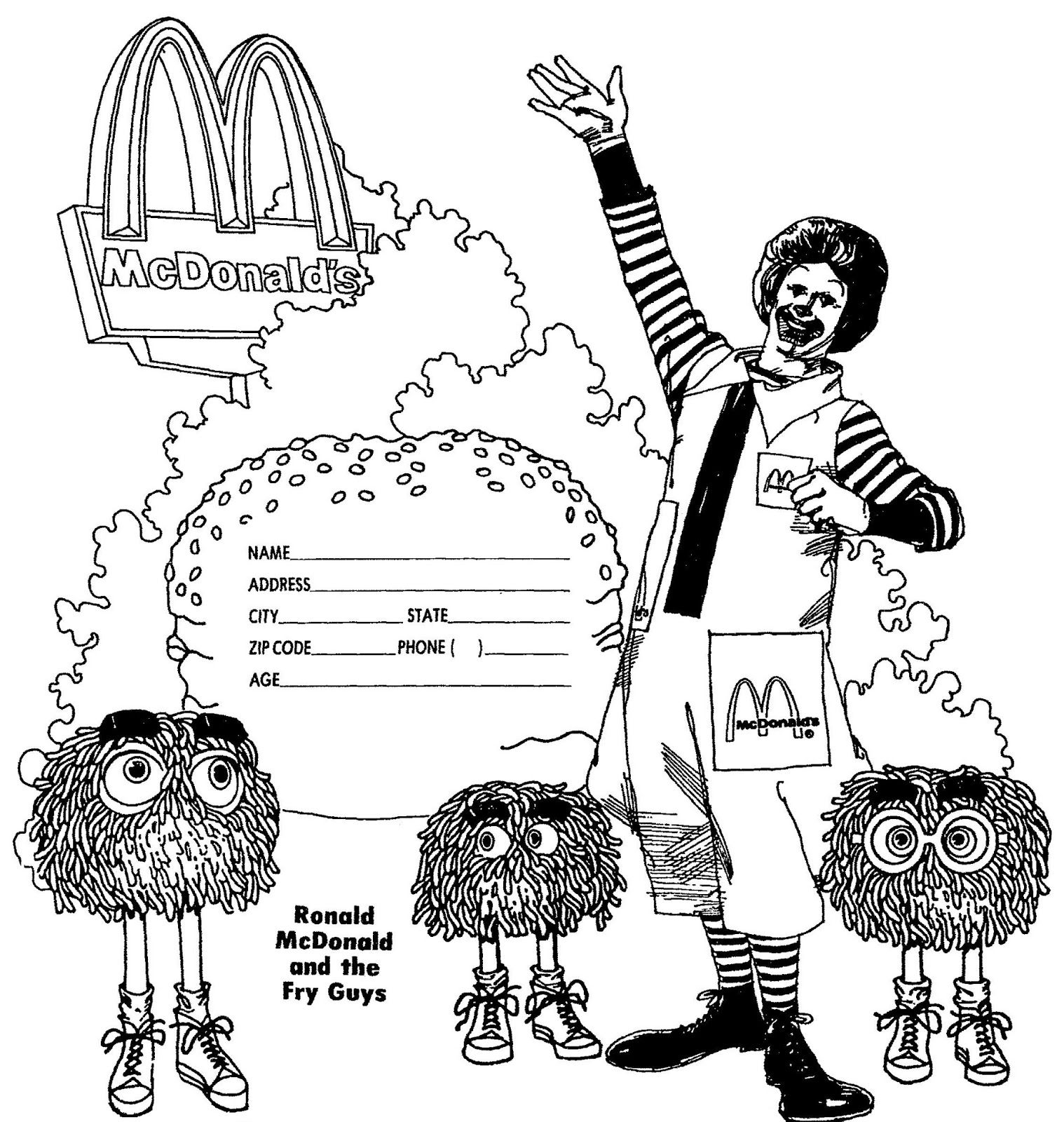 Ronald Mcdonald Coloring Page Printable Free Coloring Pages Color