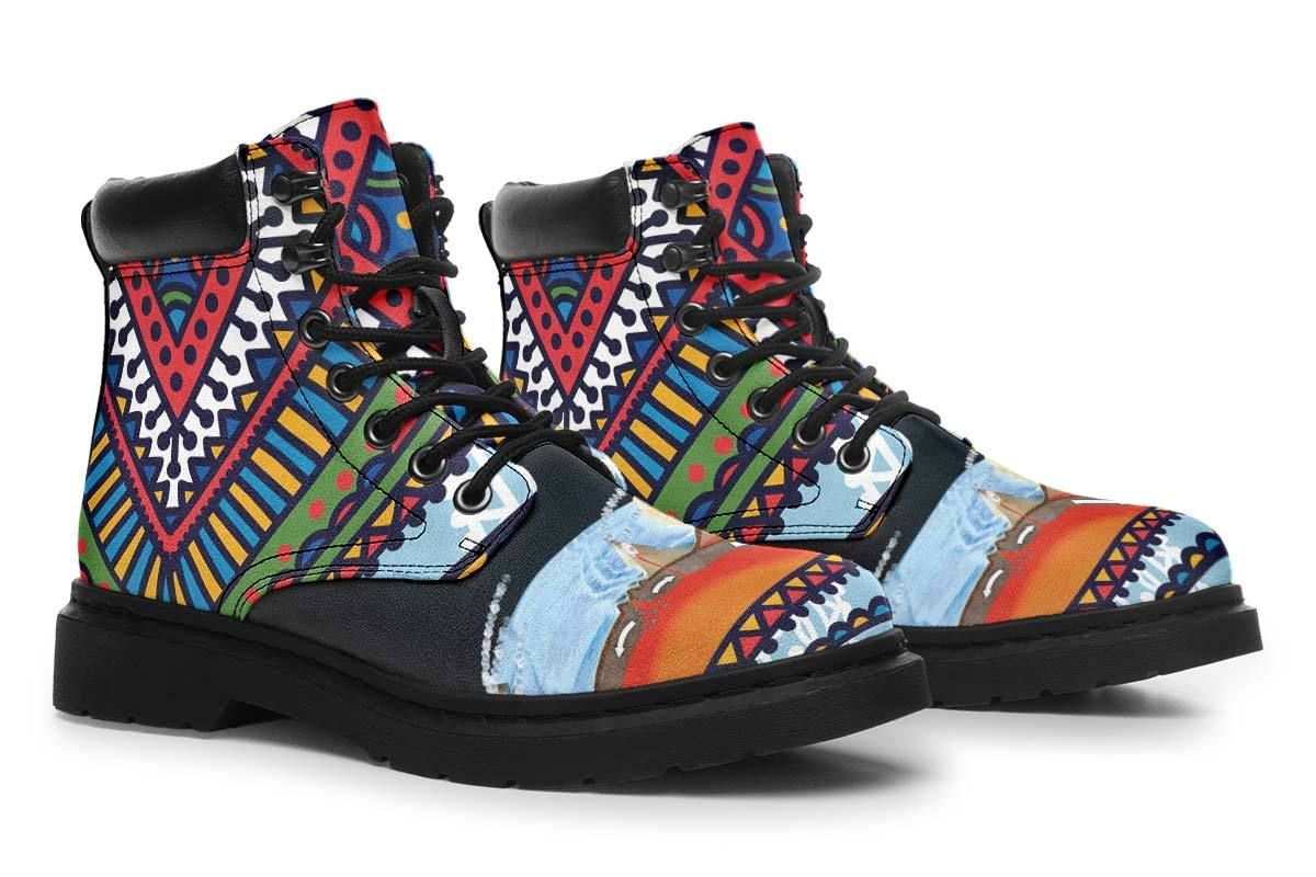 Abstract Tectonic Plates Classic Vibe Boots