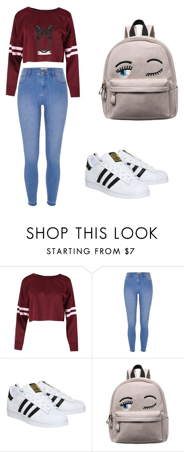"""""""~MY BACK TO SCHOOL LOOK 3~"""" by catalinabeltransastre ❤ liked on Polyvore featuring River Island and adidas"""