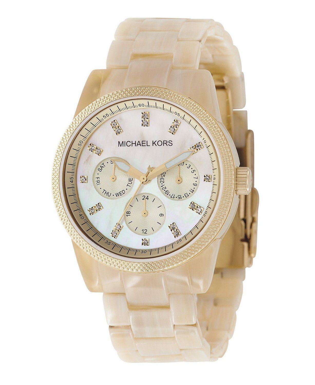 5b63b612a25d Michael Kors Women s Ritz Horn Watch