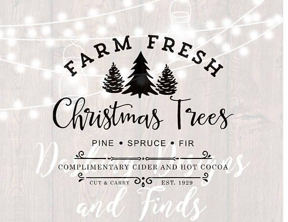 Farm Fresh Christmas Trees Svg.Pin By Jackie Mcghee On Cameo Fresh Christmas Trees