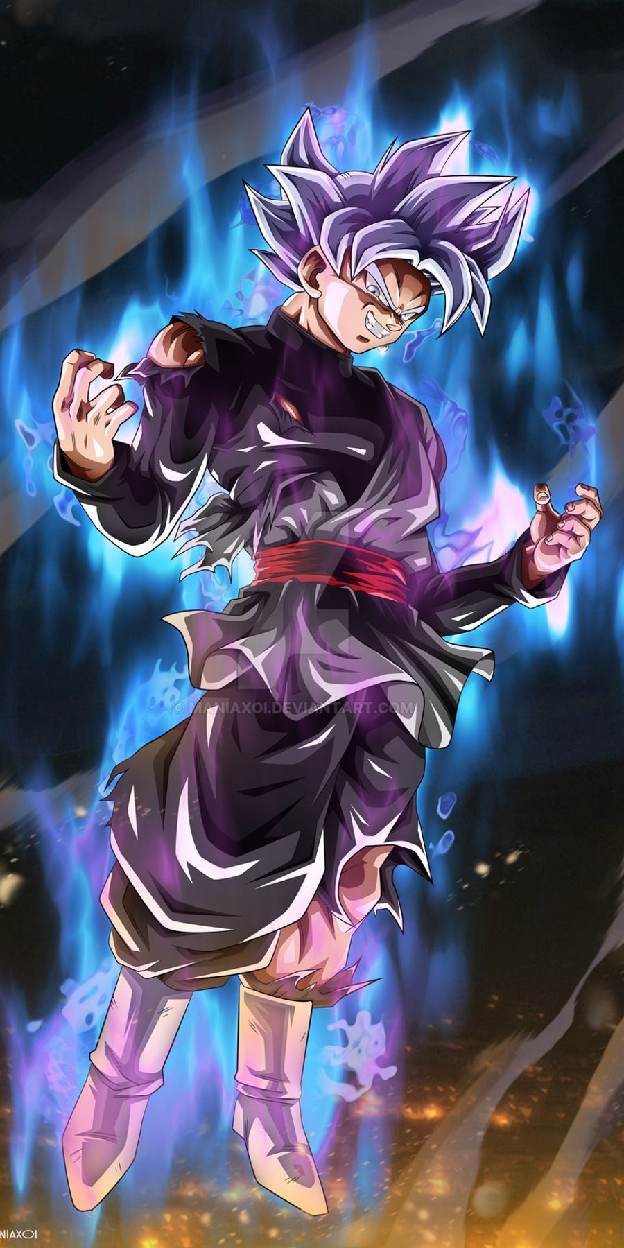 Goku Black [900x1800] live wallpaper in comments Download at: http://