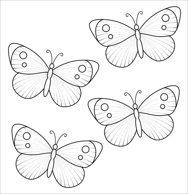 butterfly template simple Butterfly Applique Patterns - butterfly template