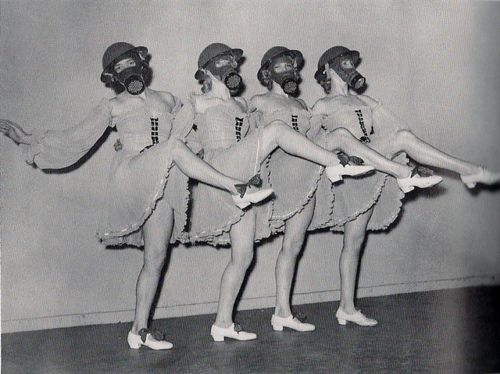 WWII gas mask dance