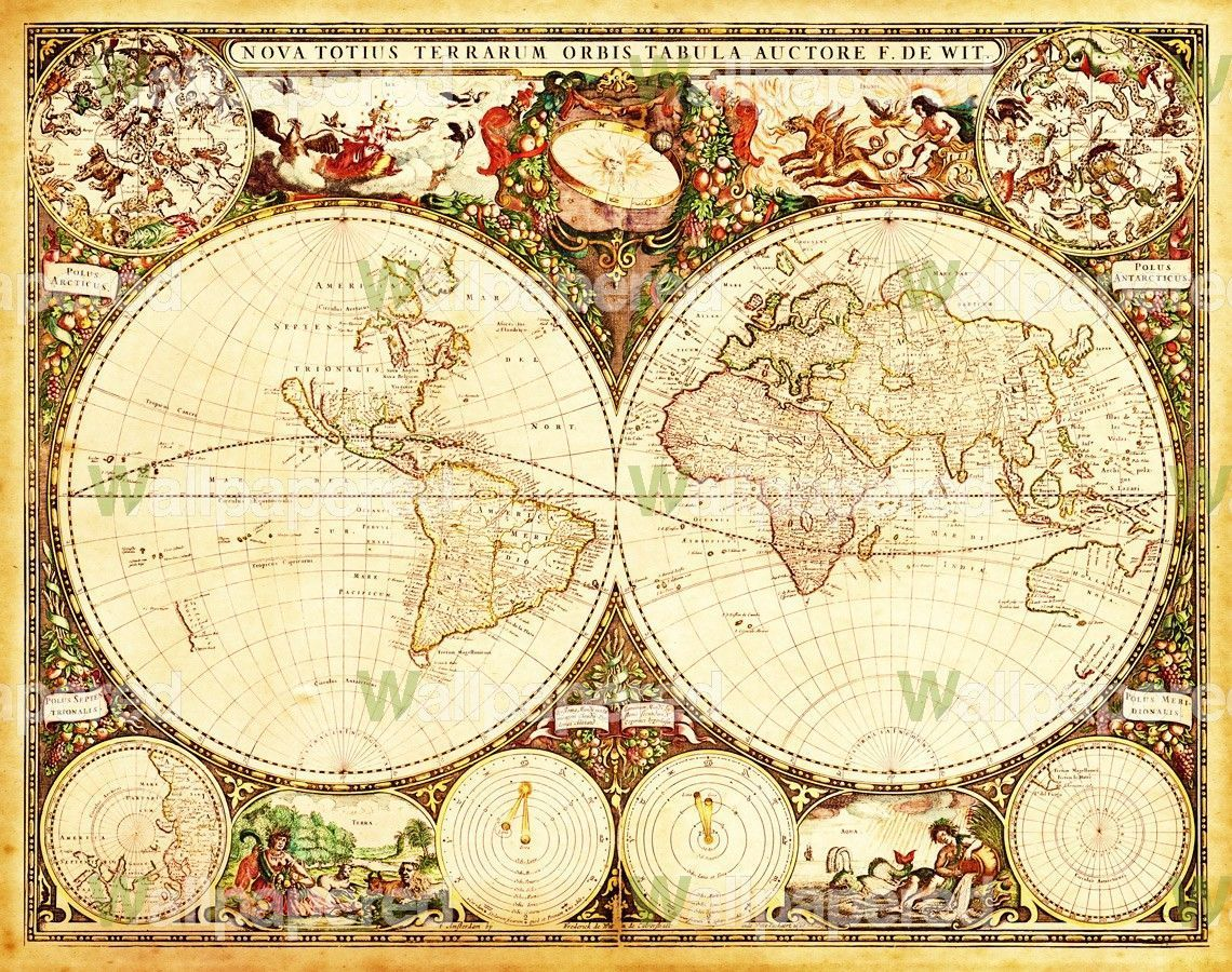 Antique world map wall mural map canvas art maps pinterest antique world map wall mural map canvas art gumiabroncs Image collections