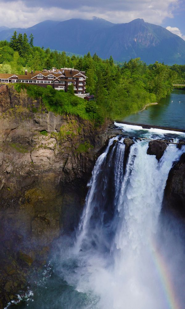 Seattle S Getaway On The Falls Snoqualmie Falls Places To Travel Places To Go