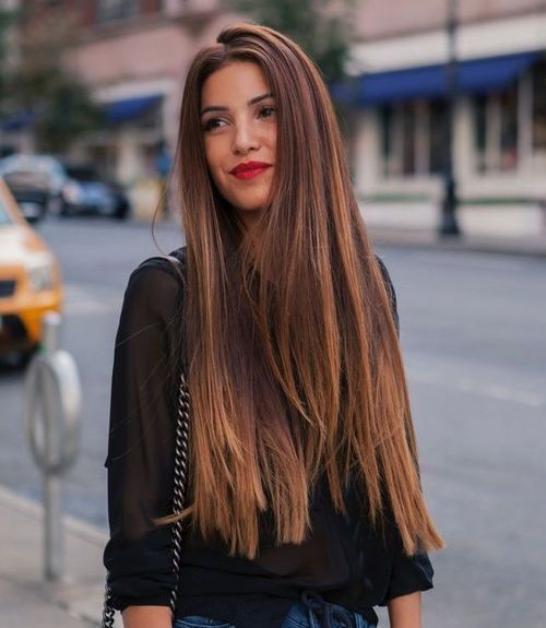 Long Thick Hairstyles Brilliant Hairstyles For Long Thick Hair Ombre Features  Hair Styles