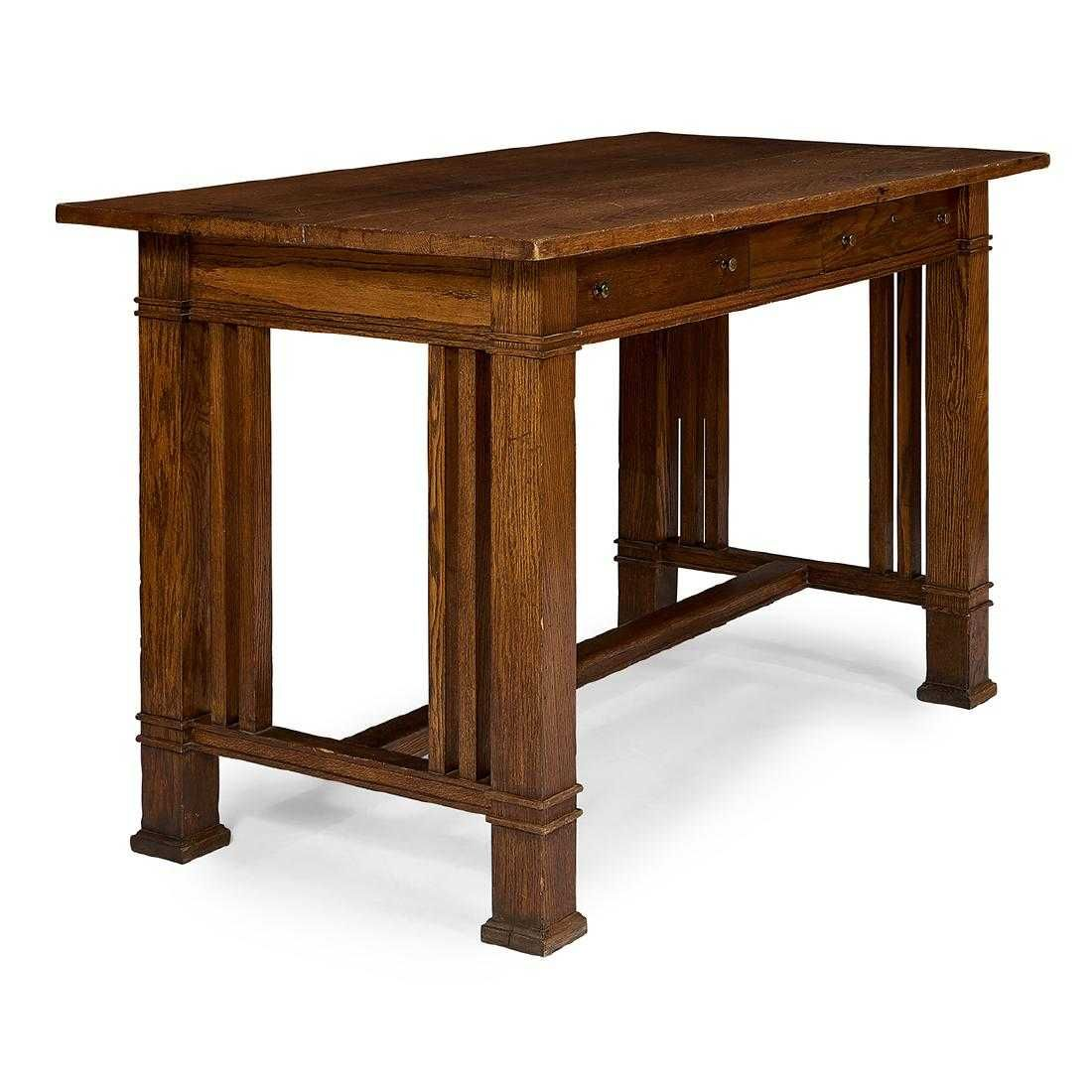 Frank Lloyd Wright / Frank L. Smith Bank desk (With images