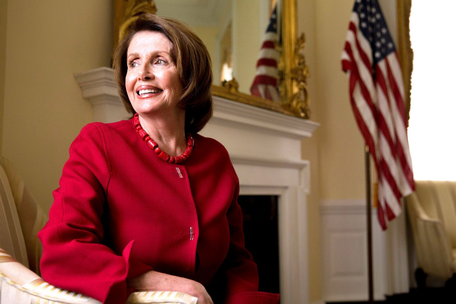 Nancy Pelosi On That Red Coat It Was Cold And I Needed A Coat Red Coat Coat Fashion