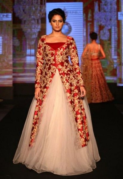 64264447589 shyamal-bhumika-designer-indian-wedding-gown -red-gold-white-net-embroidery-latest-trends