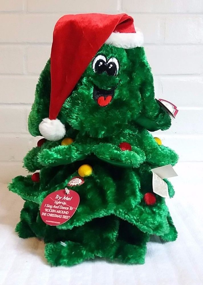 Dan Dee Spinning Dancing Singing Rockin Around Christmas Tree Plush NWT  (A25) #DanDee - Dan Dee Spinning Dancing Singing Rockin Around Christmas Tree Plush