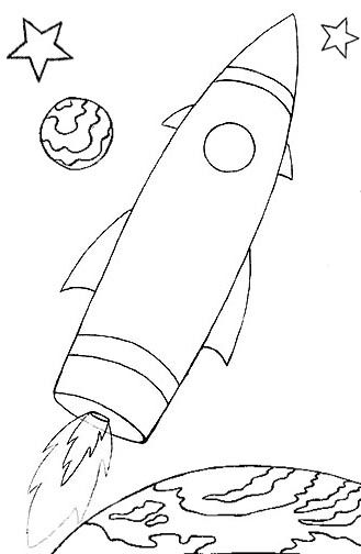 Wayne Schmidt\'s Free Space Ship Coloring Page | All space ...