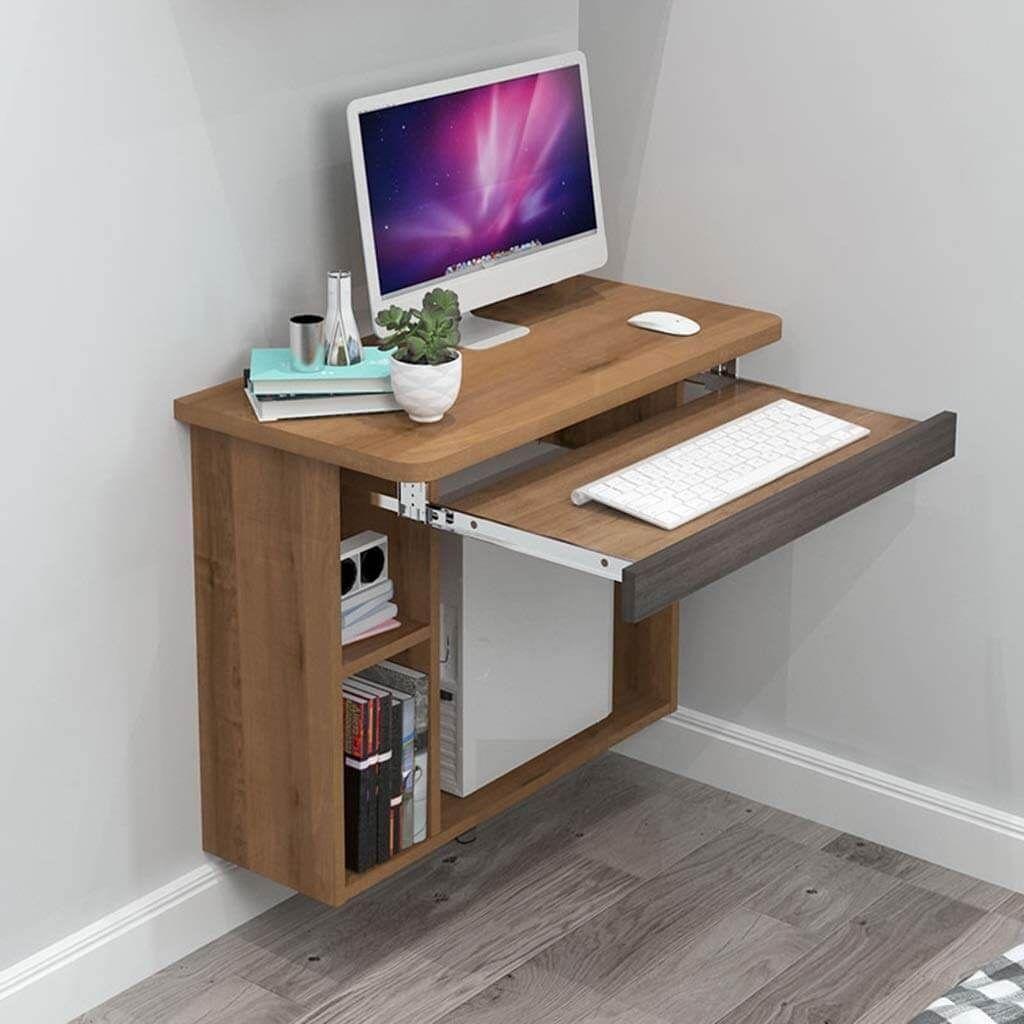 21 Practical Wall Desk Ideas For Serious Space Saving In 2020 Computer Desks For Home Computer Desk Design Computer Table Design