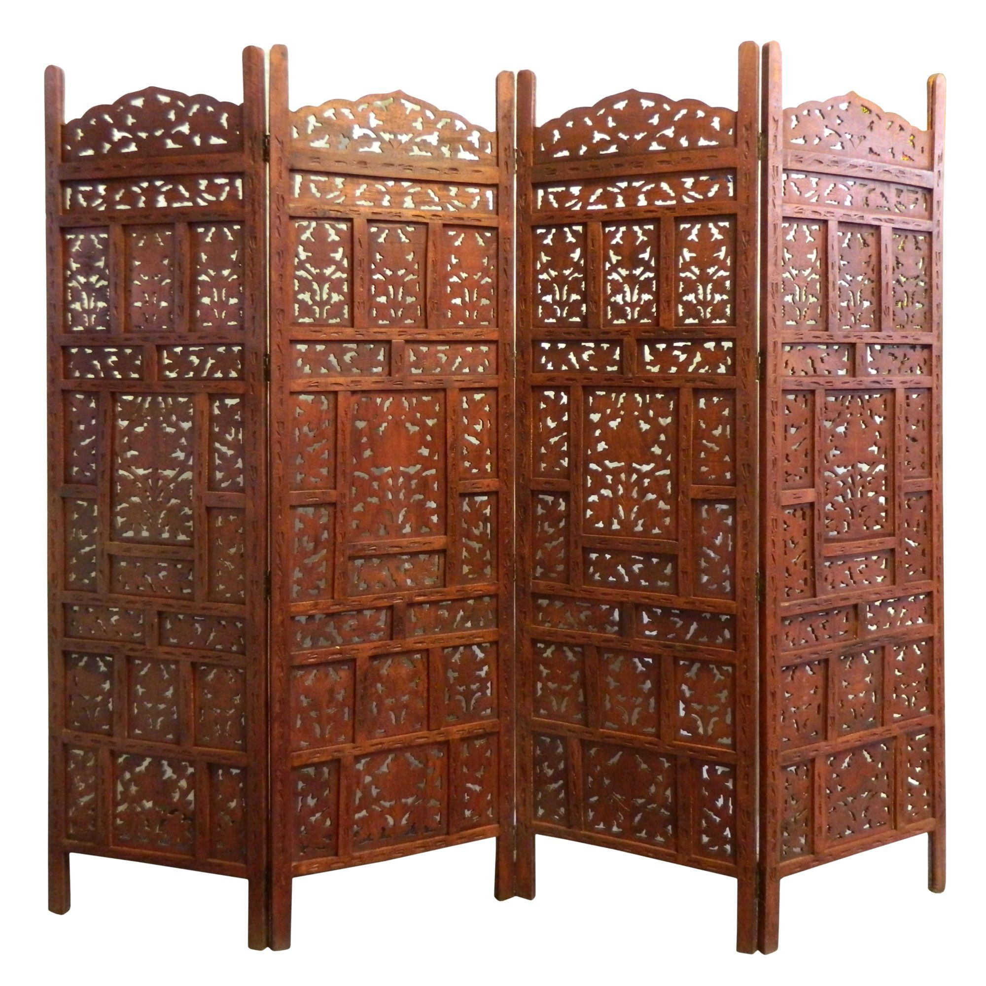 paravent jaipur bois 200x182cm d cor feuille de vigne meuble indien d coration salon home. Black Bedroom Furniture Sets. Home Design Ideas