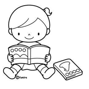 Niños Leyendo Libro Para Colorear Imagui Leer Libros En 2019