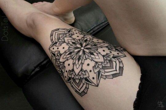 Mandala Leg Tattoo Tatuaje Pierna Ttoo Tatuajes Pierna Mandalas