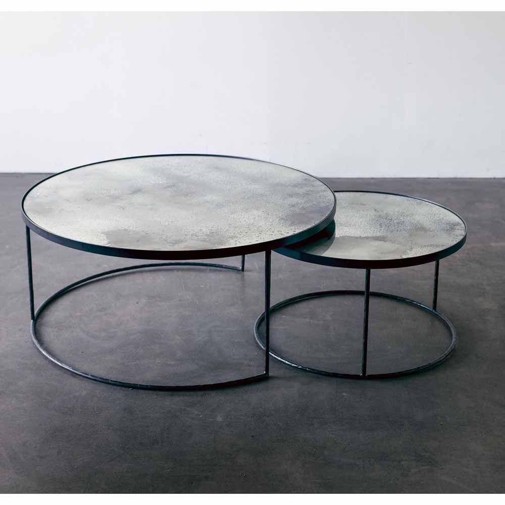 Loungetische Glossy 2er Set Industrie Chic Wohnstile Milanari Com Lounge Tisch Wohnzimmertische Couchtisch Sets