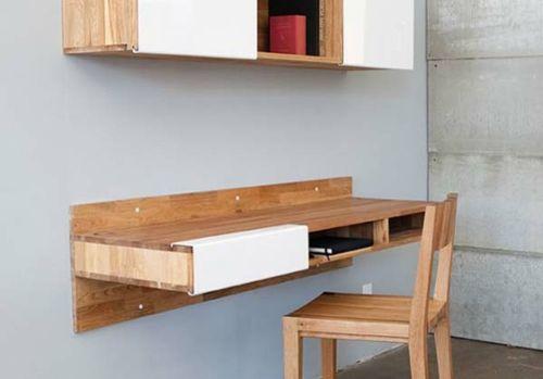 42 Ausgefallene Schreibtische Für Ihr Büro   Schreibtisch Bürotisch  Ergonomisch Wand Montiert Holz