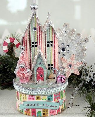 Ally Scraps: Vintage Christmas village.