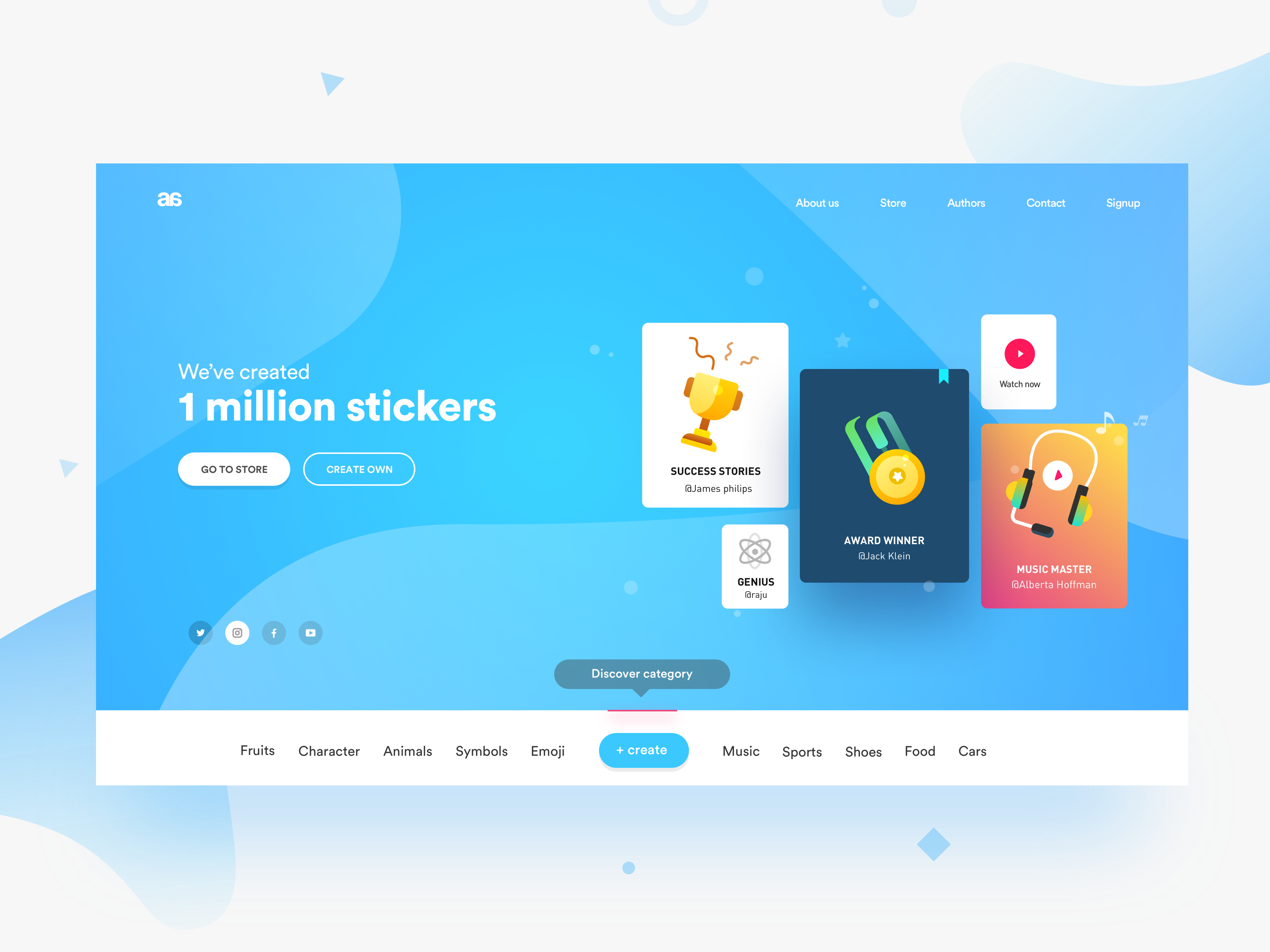 Stickers | Web Site Design inspiration - User Experience | Pinterest ...