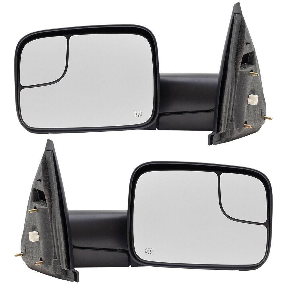 Sponsored Ebay Pair Tow Mirrors For 02 10 Dodge Ram Pickup Truck Power Flip Up Heated Textured Dodge Ram Pickup Dodge Trucks Ram Pickup Trucks