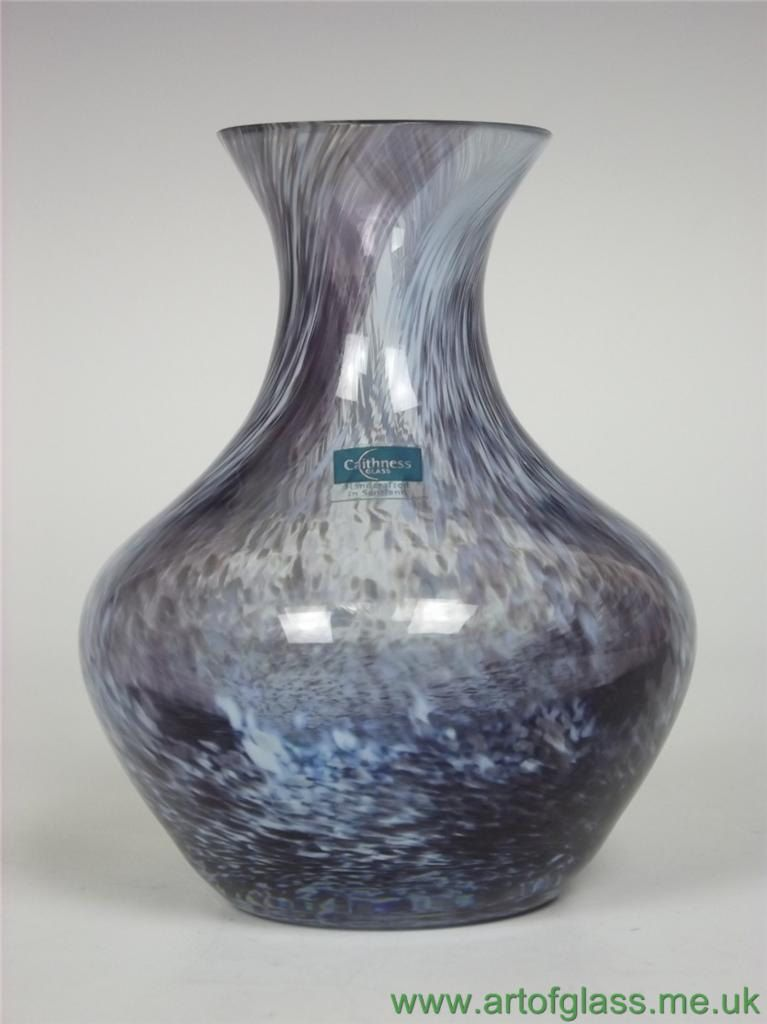 Caithness Rondo Sable Glass Vase Crystal And Glassware
