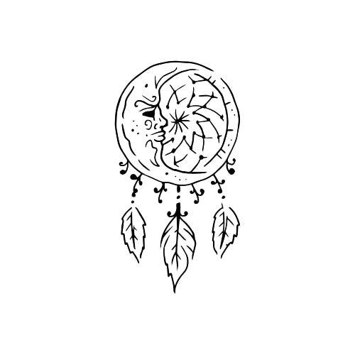 Lunaloop Tattoo - Semi-Permanent Tattoos by inkbox™