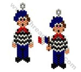 French Man Earring Bead Pattern By ThreadABead