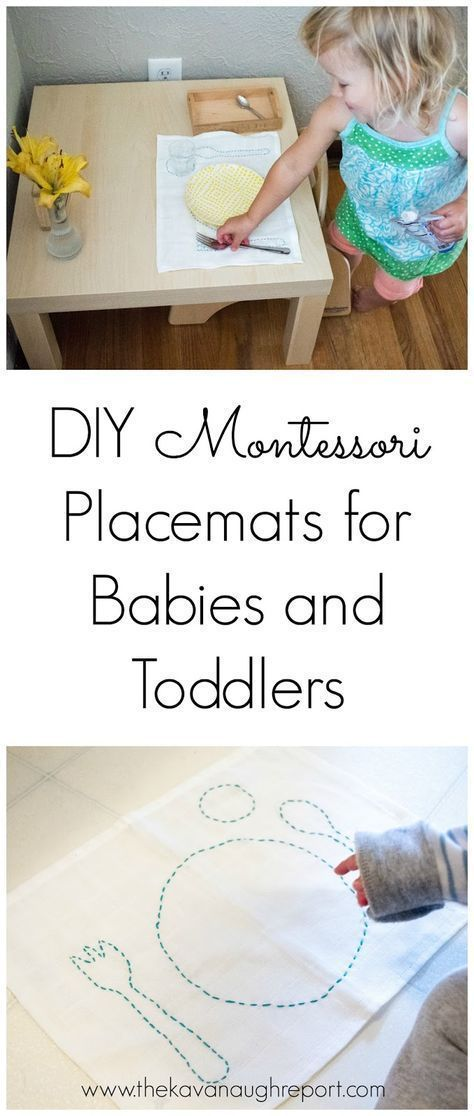 Our Montessori Baby and Toddler Placemats