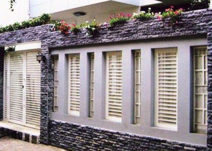 33 Contoh Gambar Dan Model Pagar Tembok Rumah Minimalis Cantik